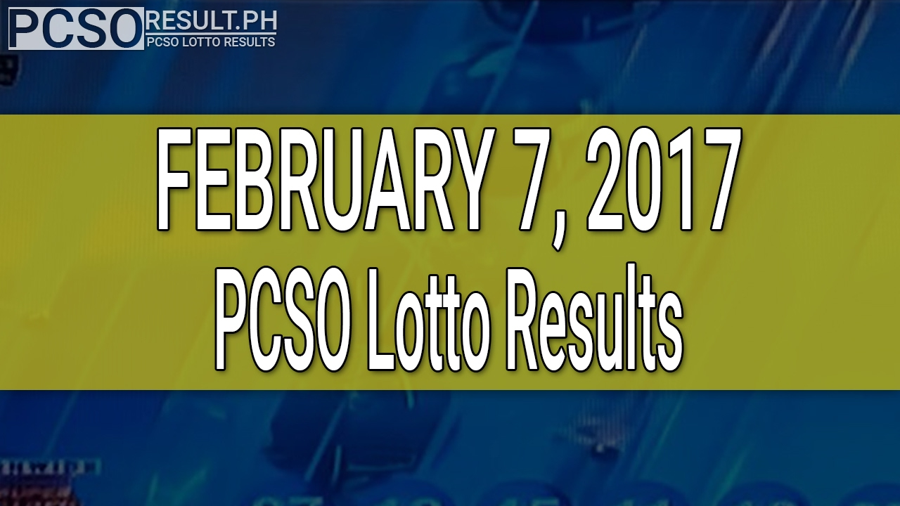 PCSO Lotto Results February 7, 2017 (6/49, 6/42, 6D, Swertres & EZ2) - YouTube