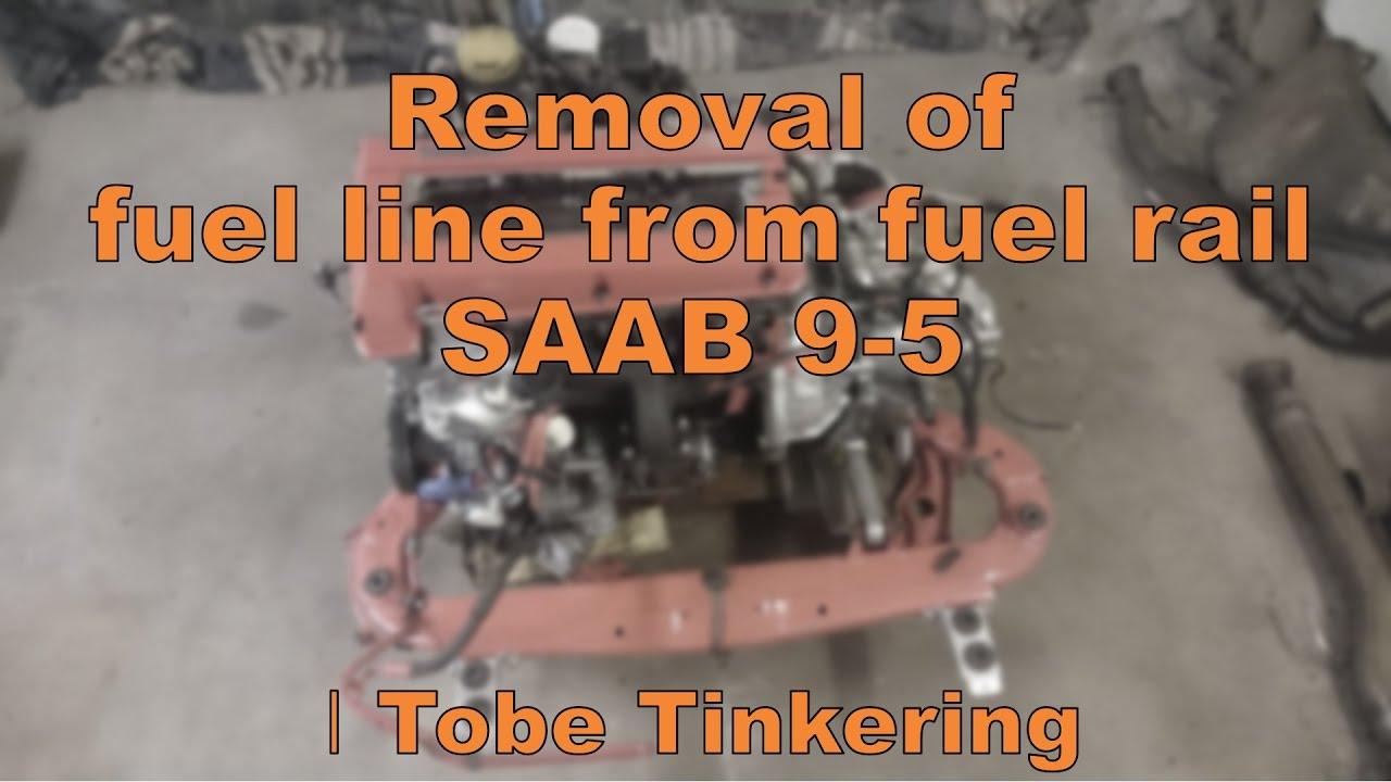 Fuel Line Removal Ta Bort Brnsleledning Saab 9 5 Aero Trionic Wiring Diagram Tinkering