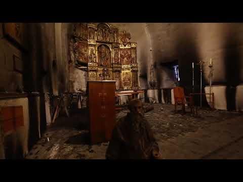 Un incendio causa daños en el interior de la iglesia BIC de Balboa en El Bierzo