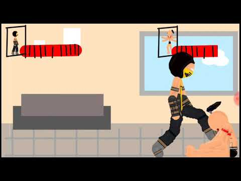 Скорпион против босса Mortal Kombat Рисуем мультфильмы 2