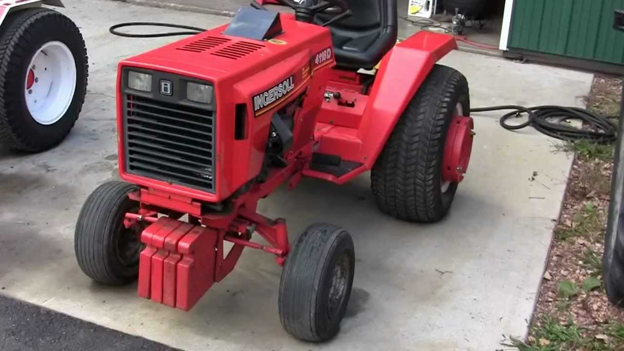 Case and Ingersoll Garden Tractors YouTube