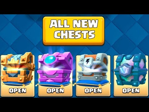 OPENING EVERY NEW AWESOME CHESTS :: Clash Royale :: LEGENDARY KINGS CHEST, FORTUNE CHEST & MORE!