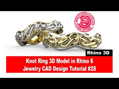 Knot Ring 3D Model Tutorial in Rhino 6 (2018)- Jewelry CAD Design Tutorial #28