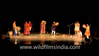 Professional folk musicians at Africa Festival in Delhi