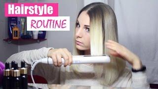 Моя НОВАЯ УКЛАДКА на каждый день | Выпрямление волос Hairstyle Routine