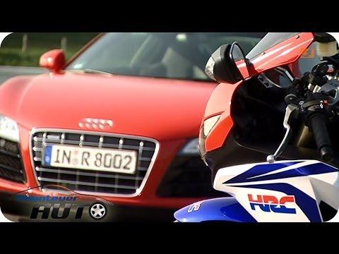 Vergleichstest: Audi R8 vs. Honda Fireblade | Abenteuer Auto Classics