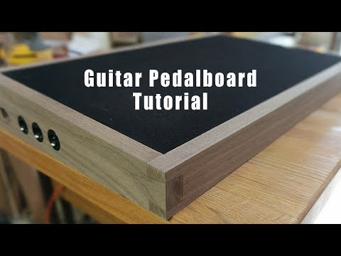 D.I.Y. Walnut Pedalboard - Tutorial Video