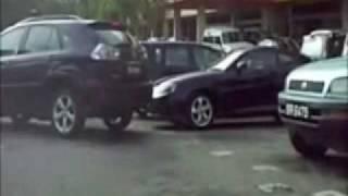Auntie Driver Parking Fail (subtitle)