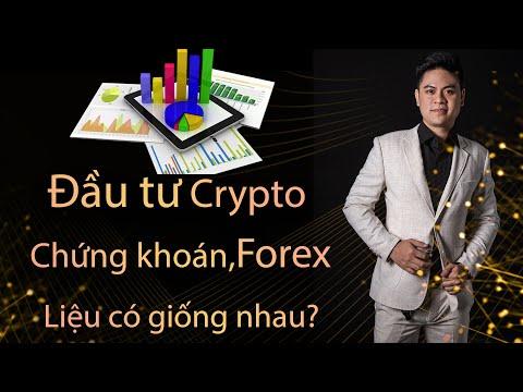 Phương Pháp đầu tư Crypto , Forex và Chứng khoán có giống nhau hay không?