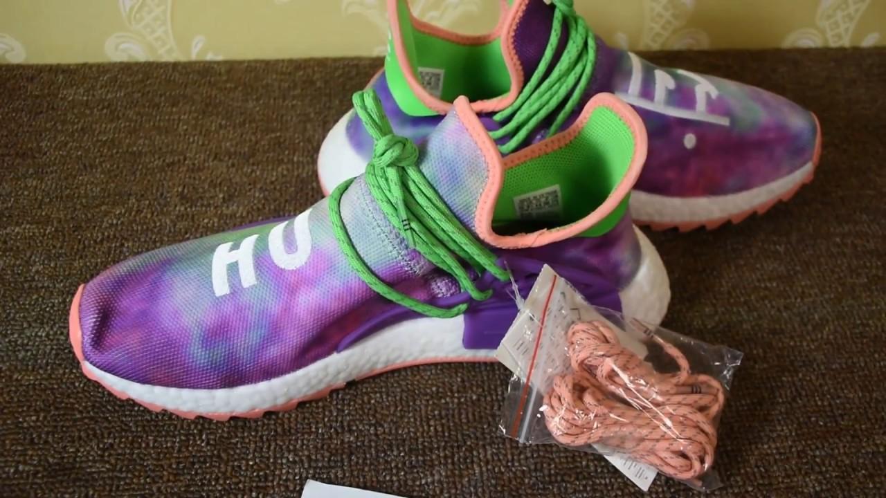 new style 0144d 0c2d5 ... Pharrell Adidas NMD Hu Tie-Dye Color AC7034 ...