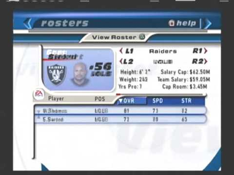 Retro Rosters 2000 2001 Oakland Raiders Madden NFL 2001