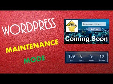 wordpress maintenance mode - wp maintenance mode