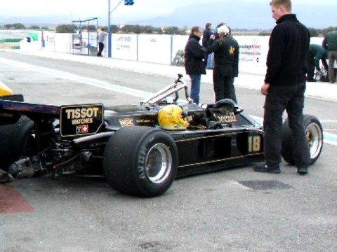 Circuito de Guadix. F1 Históricos. LOTUS 87B en boxes