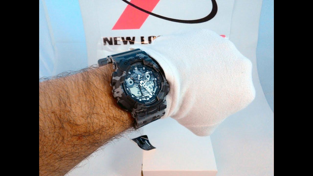 0c2ab8afa25 Relógio G-Shock Camuflado GA-100CM-8ADR - New Look Time Relógios ...