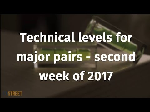 Technical levels for major pairs - second week of 2017