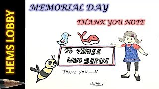 MEMORIAL DAY DRAWING - THANK YOU NOTE