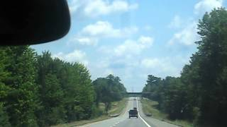 Interstate 95 north near Bangor, Maine