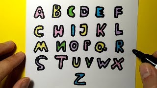 How to draw an English alphabet for kids