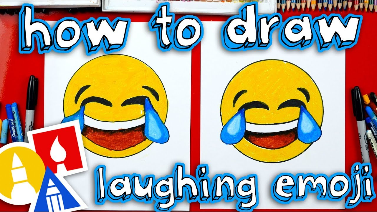 How To Draw Laughing Emoji Youtube
