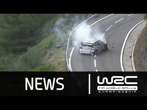 WRC News - RallyRACC - Rally De España 2015: Power Stage/ Ogier CRASH