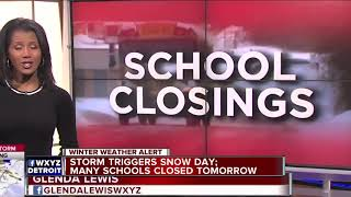 Storm triggers snow day: Many schools closed tomorrow