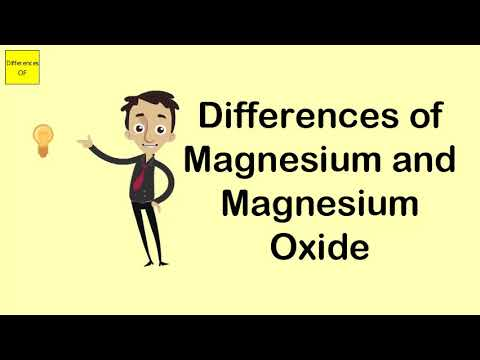 Differences Of Magnesium And Magnesium Oxide