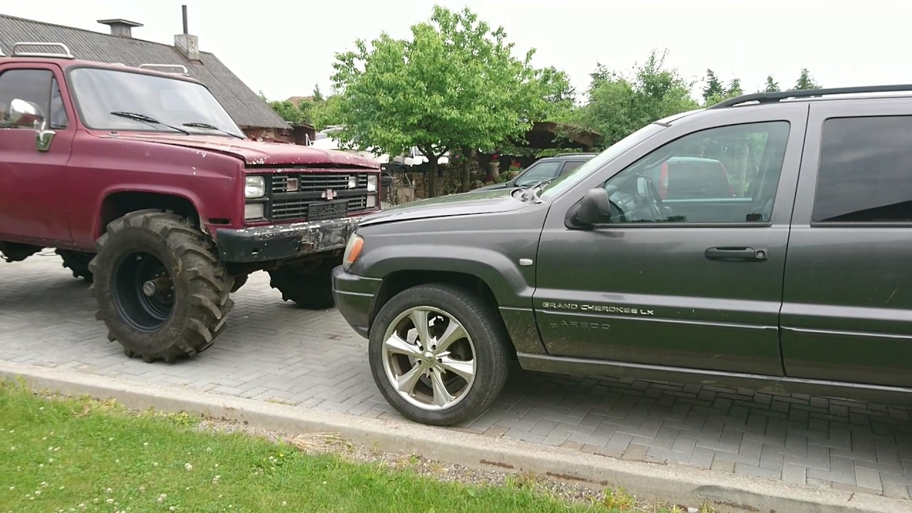 Chevrolet Blazer K5 Vs Grand Cherokee Size Youtube