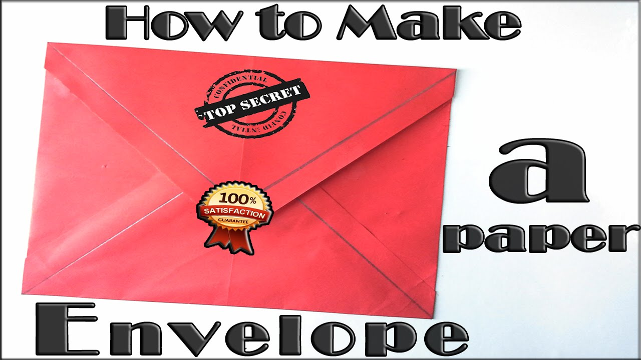 How To Make A Paper Envelope Tutorial Origami Envelope