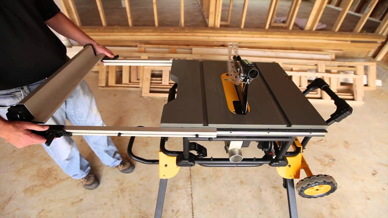 Quick and easy table saw set up youtube greentooth
