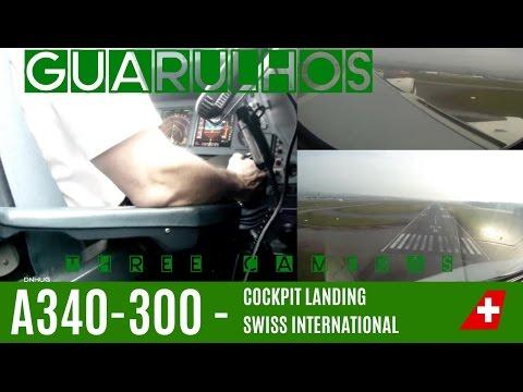 3 VIEWS : SIDESTICK OPERATION : Landing A340-300
