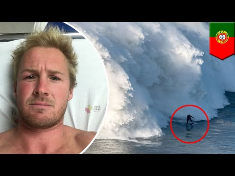 Wipeout: Brit surfer gets spine fractured by massive 50-foot wave in Portugal - TomoNews