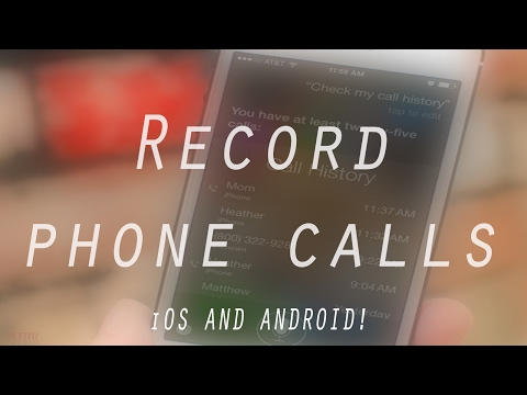 FREE WAY TO RECORD PHONE CALLS On iPhone & Android!