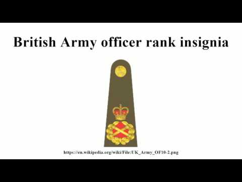 British Army Officer Rank Insignia