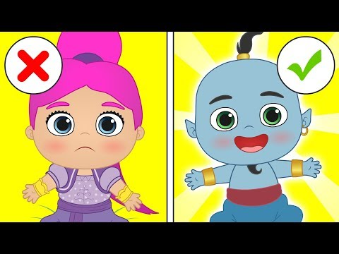 BABY ALEX AND LILY Dressing up as Arab Princess and Genie 👸🧞 Cartoons for Children