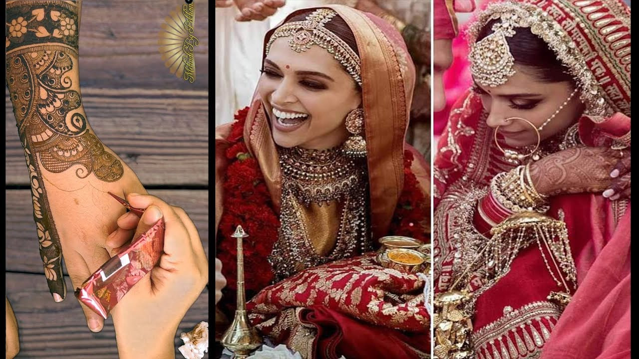 Deepika Padukone Wedding Mehndi Design video Recreation ...
