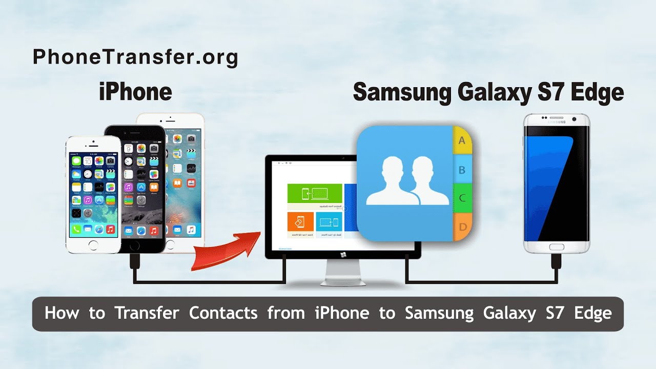how to transfer contacts from one iphone to another how to transfer contacts from iphone to samsung galaxy s7 3655