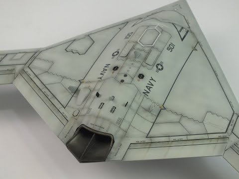 Freedom Models : X-47B : 1/48 Scale Model: Step by Step Video Build Episode.15 Final