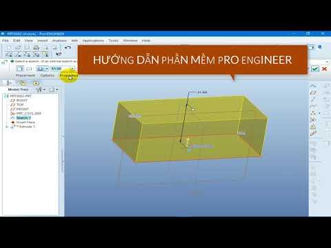 Hướng Dẫn Phần Mềm Pro Engineer - Thao tác Thiết kế 3D - Cách Dùng Lệnh Extrude Thiết Kế Phôi 3D