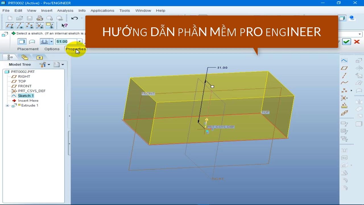 Hướng Dẫn Phần Mềm Pro Engineer – Thao tác Thiết kế 3D – Cách Dùng Lệnh Extrude Thiết Kế Phôi 3D | Tổng hợp các tài liệu liên quan đến phần mềm vẽ nhà 3d mới cập nhật