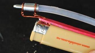 Как сделать горячий клей пистолет - с помощью зажигалки(Приготовление: зажигалка, металлическая ручка, горячий клей-карандаш, кусок., 2016-04-13T10:30:00.000Z)
