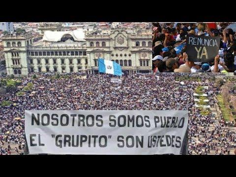 GUATEMALA LE RECUERDA AL MUNDO QUIEN TIENE EL PODER Y PIDE RENUNCIA DE SU PRESIDENTE Y DIPUTADOS