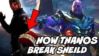 How Thanos Broke Captain America Shield in Avengers Endgame Explained Hindi