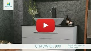 Chadwick Bathroom Vanity Floating Design Stone Top 900 [fontaineind.com.au]