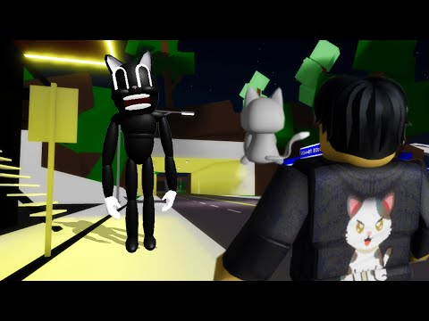 I summoned CARTOON CAT in Roblox BrookHaven