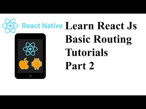 Learn React Js Basic Routing Tutorials Part 2 | aks programming thumbnail