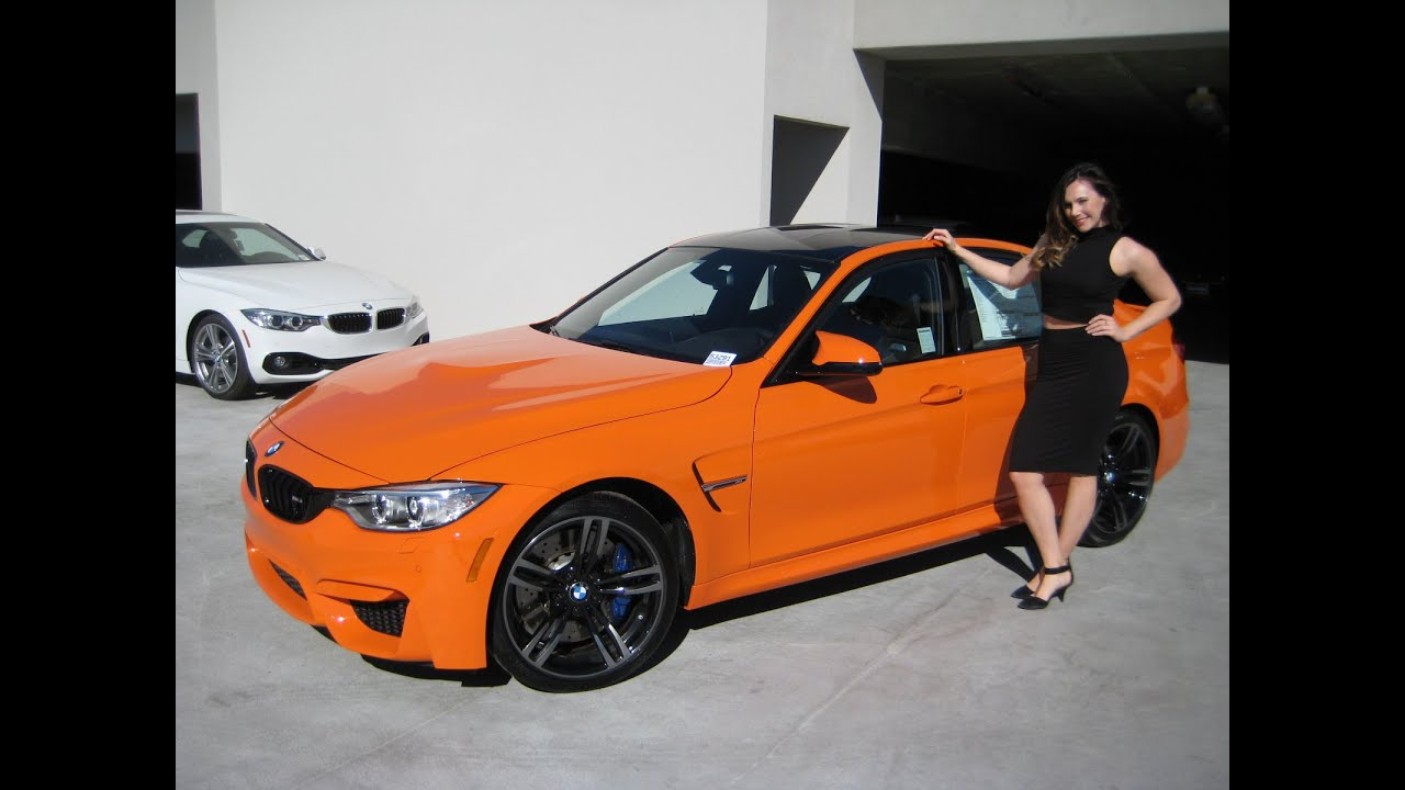 New Bmw M3 Fire Orange 19 Quot Black M Wheels Exhaust