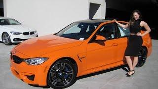"New BMW M3 Fire Orange / 19"" Black M Wheels / Exhaust Sound / BMW Review"