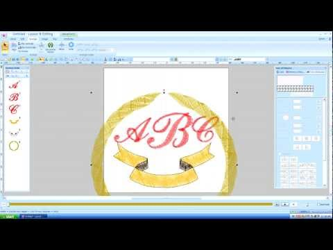 Brother Pe Design Next Monogram Text Lesson 15 Youtube