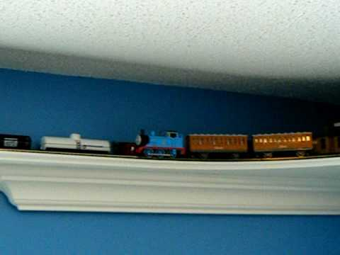 Thomas the tank engine bedroom train shelf 2 - YouTube