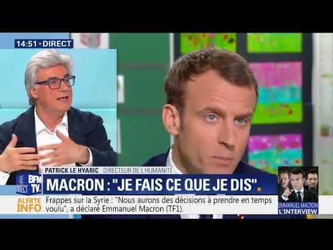 Patrick Le Hyaric après l'interview de Macron à Berd'huis